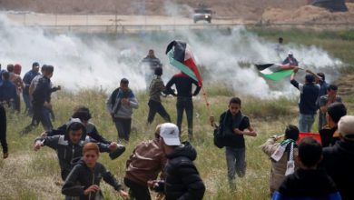 """Photo of Zionist Occupation Forces Attack, Injure Dozens of Palestinian in """"Down with Bahrain Conference,"""" Protests"""