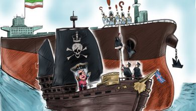 Photo of Caricature: British modern piracy
