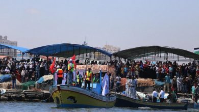 Photo of Gaza: Fishermen protest Israel's acts of piracy