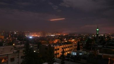 Photo of Syria air defense intercepts missile coming from northern Lebanon
