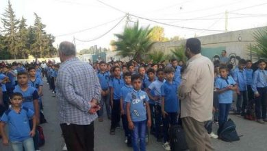 Photo of Palestinian students in Israeli-blockaded Gaza welcome new school year