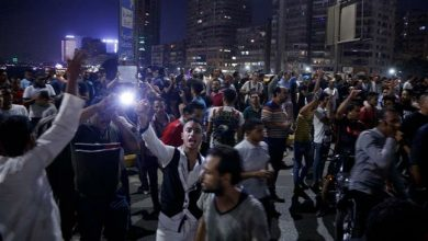 Photo of Egyptian police, anti-Sisi protesters clash for second night in Suez