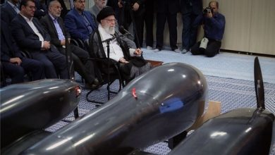 Photo of Iran's New Double-Engine Drone Displayed During Leader's Tour of Hi-Tech Exhibition