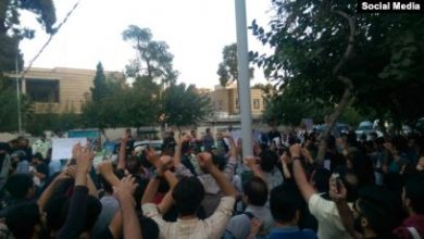 Photo of Protests in front of Turkish embassy in Tehran against Syria attack