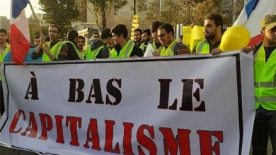 Photo of Iranian Students Stage Protest in Front of French Embassy to Support Yellow Vests