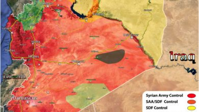 Photo of End of 2019 map of Syrian War