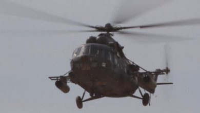 Photo of Syrian choppers drop leaflets over west Aleppo as tanks roll into city