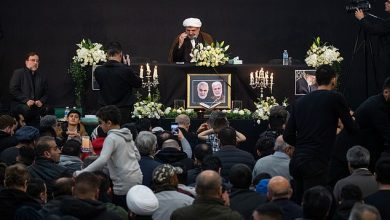 Photo of London Muslims mourn for martyred commanders