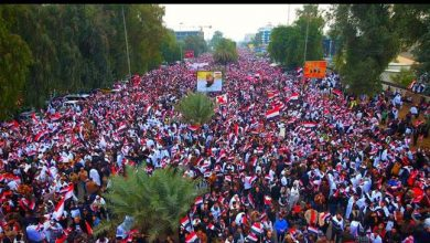 Photo of PHOTOS: Iraqis hold march against Great Satan US in 'millions'