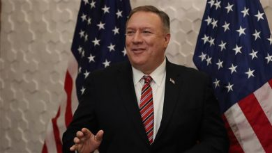Photo of Zionist Pompeo cursed at female journalist over Ukraine questions