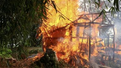 Photo of Brutal Myanmar army shells Rohingya village, kills two women
