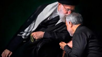 Photo of Imam Sayyed Ali Khamenei Bids Farewell to General Suleimani on His Own Way