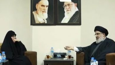 """Photo of VIDEO: Sayyed Nasrallah receives Zeinab Suleimani voicing confidence that """"uncle Sayyed Nasrallah"""" will avenge her father's blood!"""