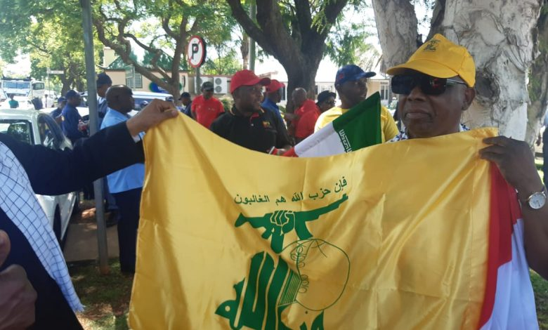 Photo of Arab and Islamic Assembly for Supporting Resistance Choice Protests Next to US Embassy in Pretoria