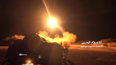 Photo of Ansarallah forces shoot down enemy aircraft in Yemen