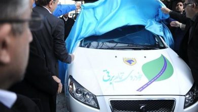 Photo of Iran's main automotive company unveils first version of electric car