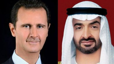 Photo of UAE's bin Zayed expresses support to Syria in phone call with Pres. Assad