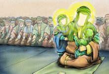 "Photo of ""Hassan and Hussain (pbut) are the masters of the youths of paradise,"" the Prophet of Islam"