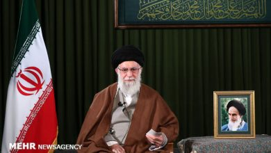 "Photo of Leader of Islamic Ummah Imam Sayyed Ali Khamenei determines ""surge in production"" as pivotal issue of New Year"