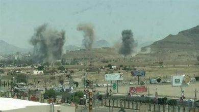 Photo of Saudi regime's warplanes target residential areas, military college in Yemeni capital