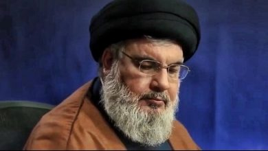 Photo of President Rouhani Condoles Sayyed Nasrallah on Death of His Mother-in-law