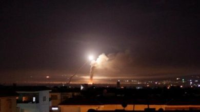 Photo of Syria air defenses down zionist israeli regime missiles over Homs