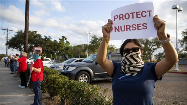 Photo of US nurses protest about 'lack of preparedness' amid coronavirus pandemic