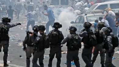 Photo of Palestinian Youths Clash with Zionist Occupation Forces in Ramallah