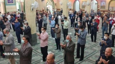 Photo of Iranians Hold Eid al-Fitr Prayers with Health Protocols