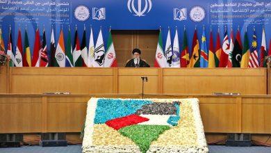Photo of Leader of Islamic Ummah and Oppressed Imam Sayyed Ali Khamenei's waited televised speech on al-Quds Day has started