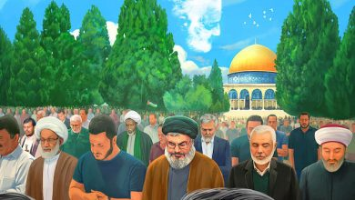 "Photo of ""We will pray in al-Quds"""