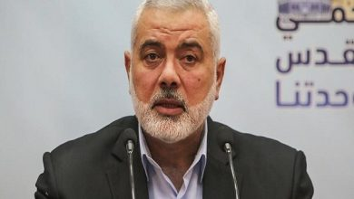 Photo of Haniyeh describes normalizing ties with zionist regime as 'unforgivable'