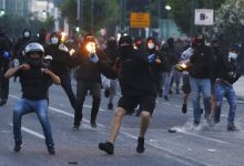 Photo of Greek protesters throw Molotov cocktails at US embassy
