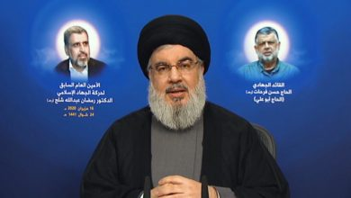 Photo of Sayyed Nasrallah: Our Weapons Will Remain, We Will not Starve, We Will Kill You
