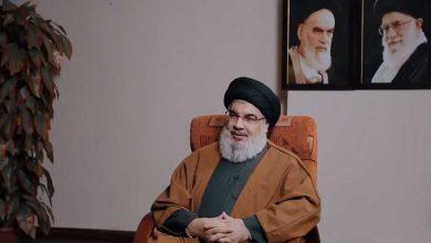 Photo of Sayyed Nasrallah Condoles Islamic Jihad on Shallah's Demise