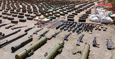 Photo of Syrian Army seizes large amount of weapons being smuggled to militants in Idlib