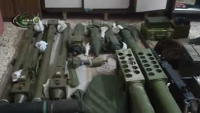 Photo of Syrian Army seizes large cache of weapons meant to be delivered to jihadists in Idlib