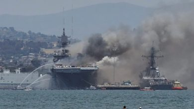 Photo of Quds Force Cmdr. Qaani on US navy ship blaze: Tough days await America, Israel