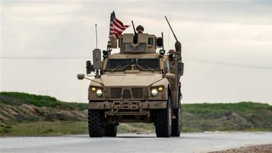Photo of US convoy forced to move back by Syrian army in Hasakah