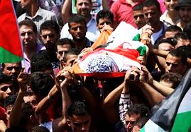 Photo of Palestinians hold funeral for man killed by zionist troops south of Nablus