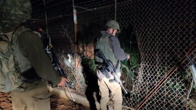 "Photo of Zionist Occupation Forces ""Hunting for Jinns"" along Lebanon Border"