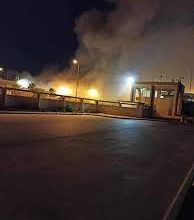 Photo of Massive fire breaks out at Libyan Airport used by Turkey to transport supplies