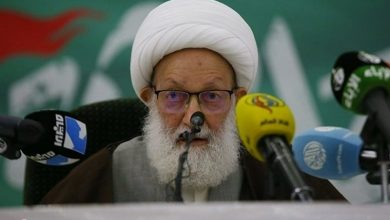 Photo of Ayatollah Qassem, Bahraini Groups Denounce Deal with Zionist Entity