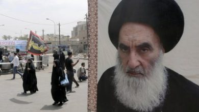 Photo of Ayatollah Sistani supports early legislative elections following meeting with top UN official