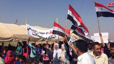 Photo of Syrian protesters condemn US sanctions, Turkey occupation in Hasakah prov.