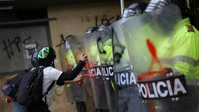 Photo of Colombians protest against government, police brutality