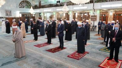 Photo of President al-Assad participates celebration of Prophet Moahammad's birthday at Sa'ad bin Mo'az Mosque in Damascus