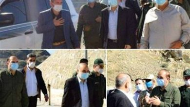 Photo of IRGC Chief Visits Iran's Borderline near Azeri-Armenian Clash Site