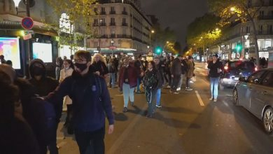 Photo of Paris scene of heavy traffic, clashes amid protests against 2nd national lockdwon