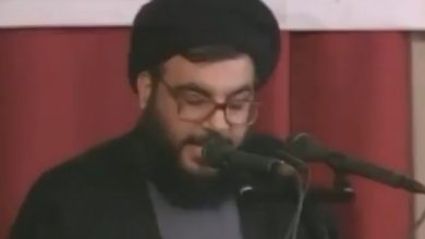 Photo of 20 Years Ago: Sayyed Nasrallah Announcing Capture of Zionist Colonel Elhanan Tannenbaum